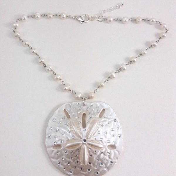 18 inch sand dollar fresh water pearl necklace